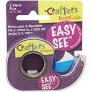 """Crafter's Easy See Removable Craft Tape .5""""X720""""-Blue"""