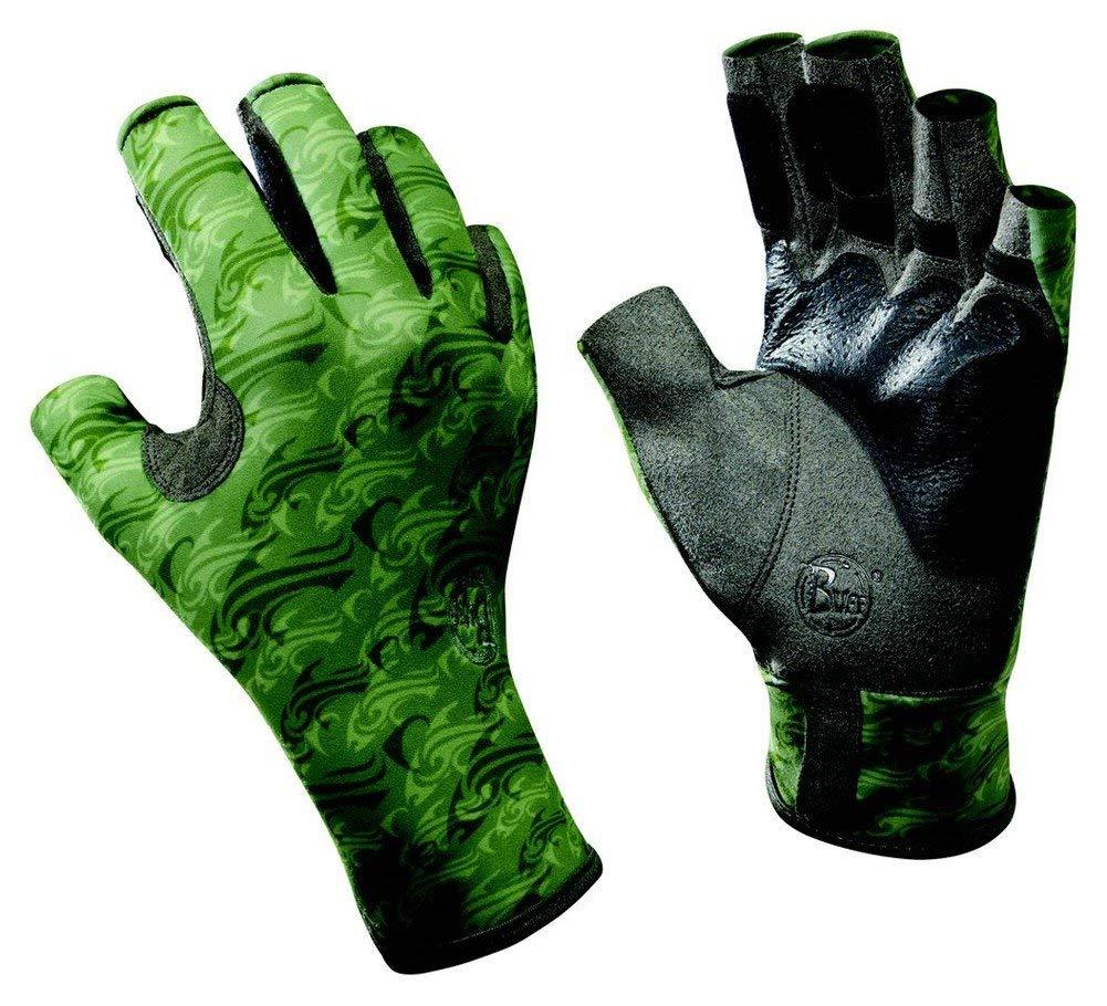 Buff Pro Series Angler 2 Gloves, Skoolin Sage, S/M (8/9)