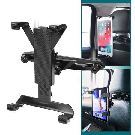 Insten Car Back Seat Headrest Mount Tablet Holder Universal For iPad 4 5 Air 2019 Pro Mini / Samsung Galaxy Tab A E S S2 / Kindle Fire HD / RCA / Visual Land / Nextbook / Dragon Touch / Ematic