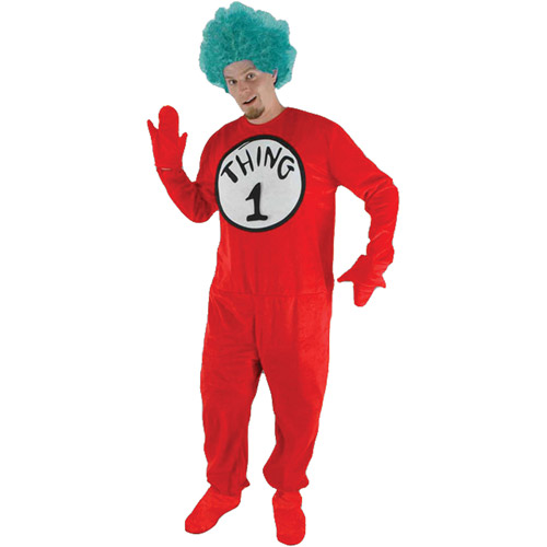 Cat in the Hat Thing Two Adult Halloween Costume - One Size