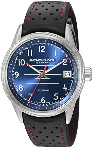 Raymond Weil Men's 'Freelancer' Swiss Automatic Stainless Steel and Rubber Casual Watch, Color:Black (Model:... by Raymond Weil