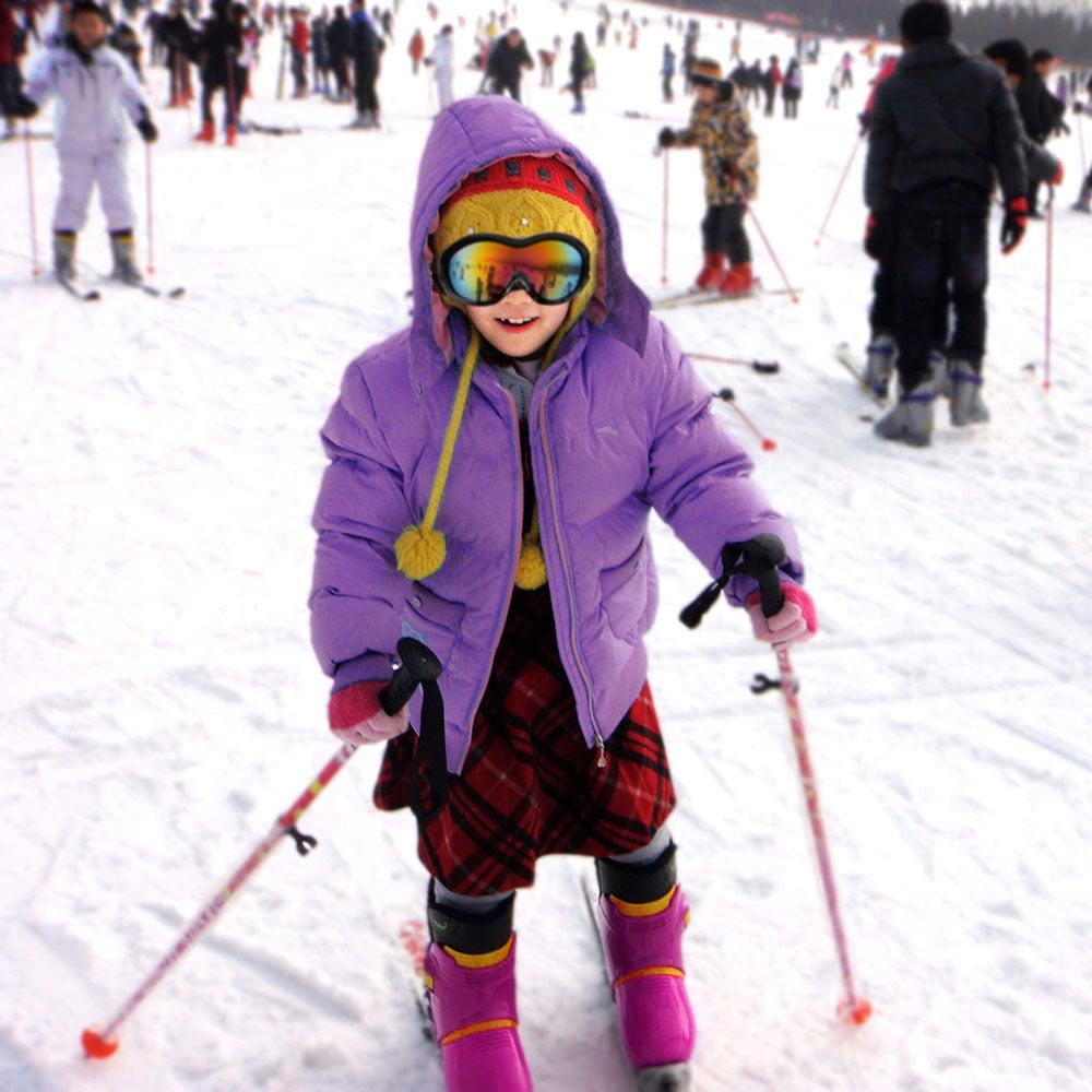 AGPTEK Kids Youth Junior Snowboarding Snow Ski Goggles Windproof Anti Fog Black by AGPtek