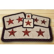 Earth Rugs 84-019BS Wicker Weave Trivet, Barn Star,