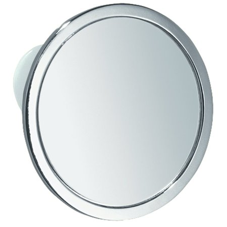 Suction Shaving Mirror for Shower or Bathroom - Circular, Chrome Finish, IN-SHOWER SHAVING: Circular mirror attaches to bath or shower wall for easy,.., By InterDesign ()