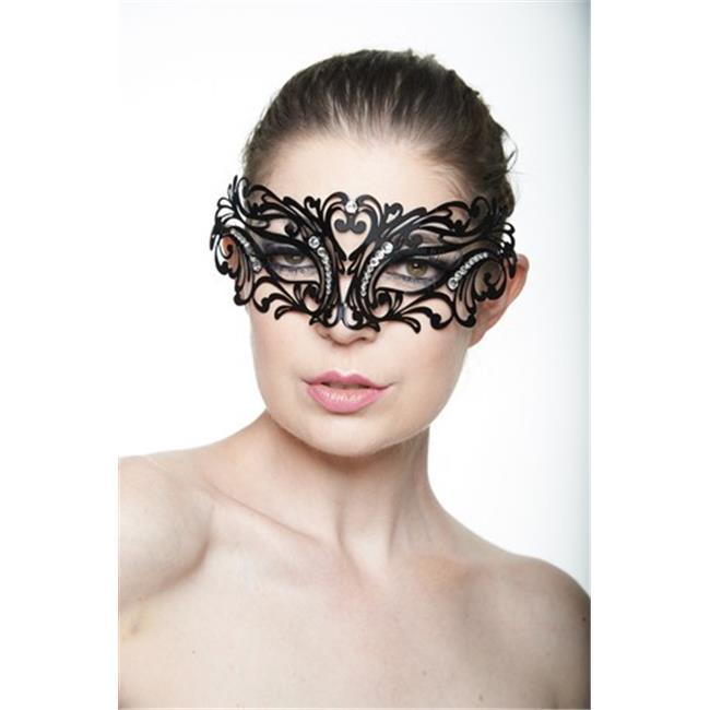 Classic Womens Mardi Gras Venetian Masquerade Mask with Rhinestones