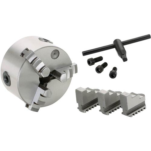 """Grizzly G9829 4"""" 3-Jaw Plain Back Scroll Chuck"""