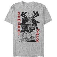 Samurai Jack Men's - Samurai Jack Scaramouche Scene T-Shirt