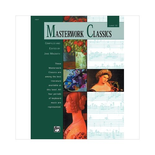 Alfred 00-17577 Masterwork Classics- Level 10 - Music Book