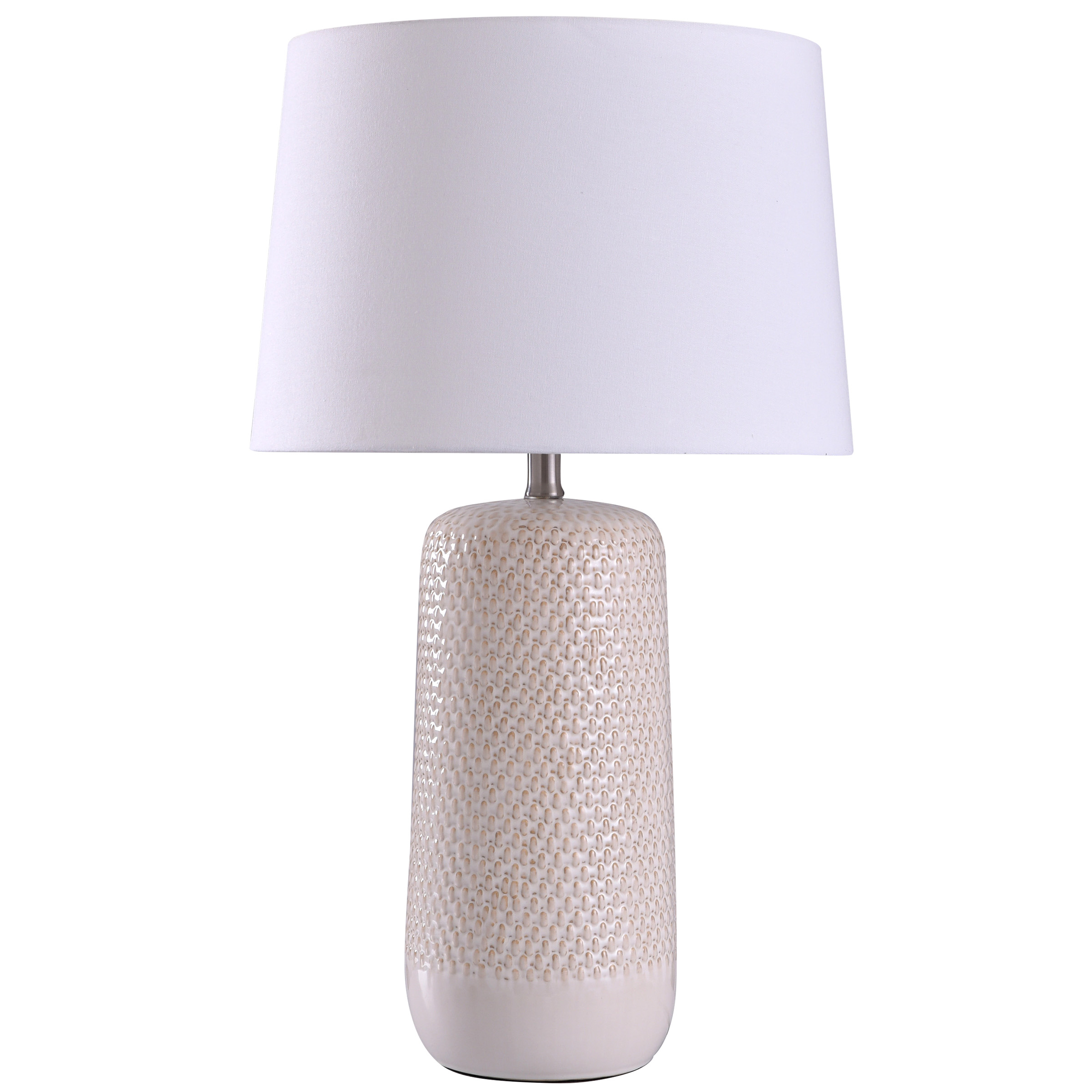 Galey Woven Wicker Textured Design Table Lamp With Tapered Drum Shade Walmart Com Walmart Com