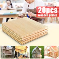"20 Sheets Colse to 4"" 100x100x1mm Model Balsa Use For Wood Model Plane Sculpture"