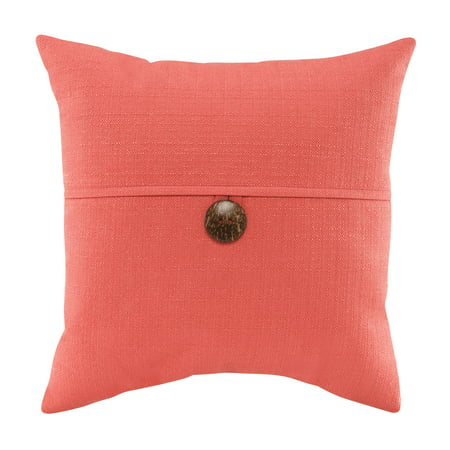 Mainstays Dynasty Coconut Button Accent Decorative Throw Pillow 18