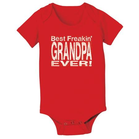 Best Freakin Grandpa Funny Infant One Piece