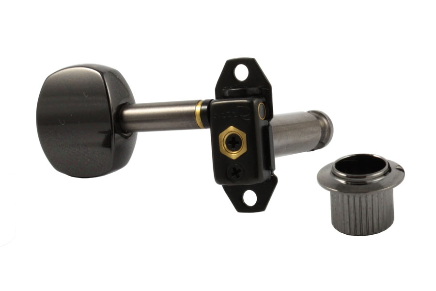 Gotoh 6 in Line Black Left Handed Stealth Tuning Keys by AllParts
