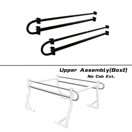 AA-Racks Adjustable Side bar with NO Cab. Extension for Basic Two-barred Truck Rack - Black (P39-B-BX2-BLK) ()