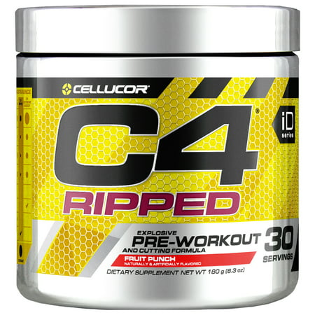 Cellucor C4 Ripped Pre Workout Powder, Thermogenic Fat Burner & Metabolism Booster for Men & Women, Fruit Punch, 30 (Best Anabolic Steroids To Get Ripped)