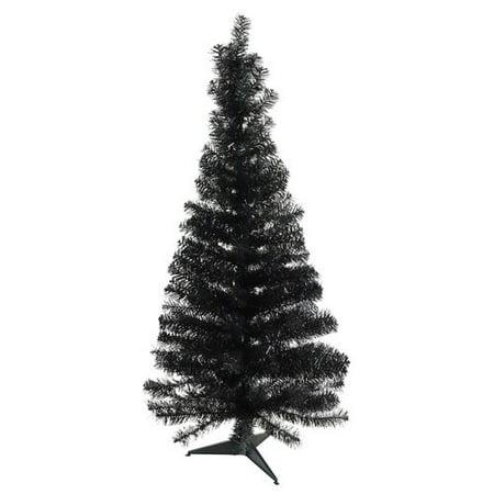 Northlight Seasonal Tinsel Branches 4' Black Artificial ...