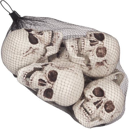 loftus 13 bag of skulls halloween decoration props white black 6 pack