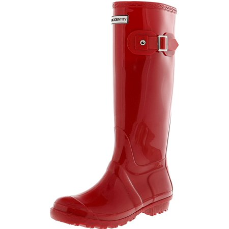 Exotic Identity Tall Rain Boots-Non-slip 100% Waterproof for Women - 8M - Gloss - Medieval Boots For Women