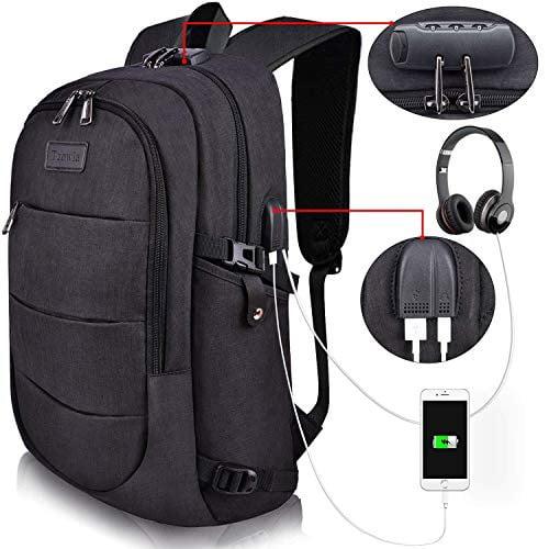 City at Night Print Laptop Backpack High School Bookbag Casual Travel Daypack
