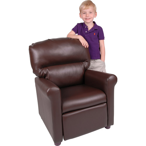 Better Homes and Gardens Faux-Leather Kids Recliner, Multiple Colors
