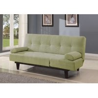 Comfy Adjustable Sofa With Two Arm Pillows, Green