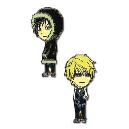 Pin Set - Durarara - New  Izaya & Shizuo (Set of 2) Anime Licensed