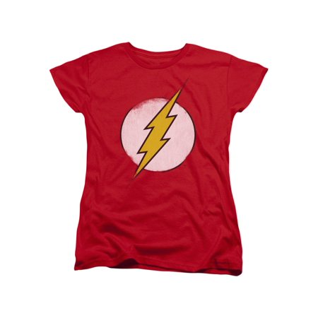 DC Comics Rough Flash Logo Women's T-Shirt (Womens Flash)