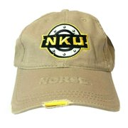 Northern Kentucky University Norse NCAA Beige Distressed Buckle Strap Hat