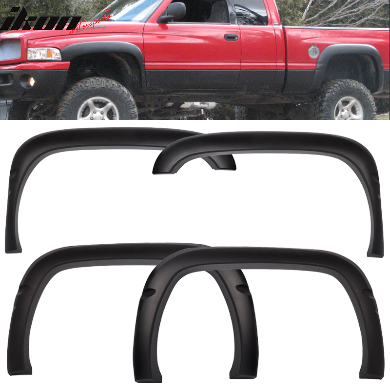 Fits 94-01 Dodge Ram OE Factory Style Fender Flares PP Textured