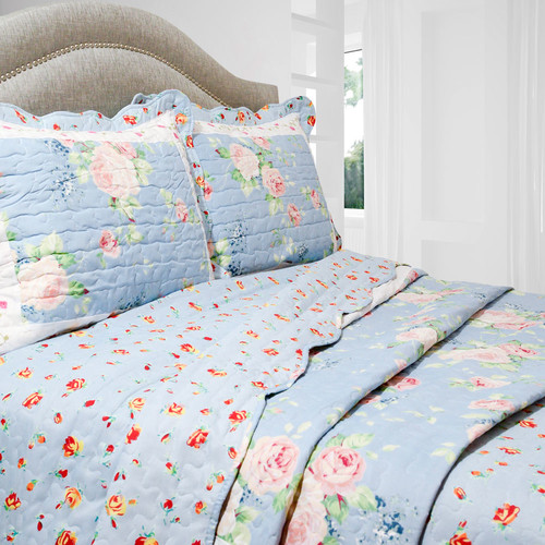 Pegasus Home Fashions Vintage Ridge 3 Piece Quilt Set