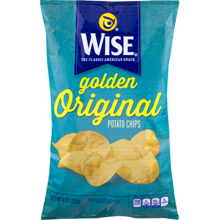 Wise Potato Chips (Wise Foods Golden Original Potato Chips 9.0 oz. Bag (3 Bags))