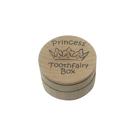 Princess Crown Wood Tooth Fairy Box Lost Teeth Money Holder/Keepsake - Bunny Tooth Fairy Box