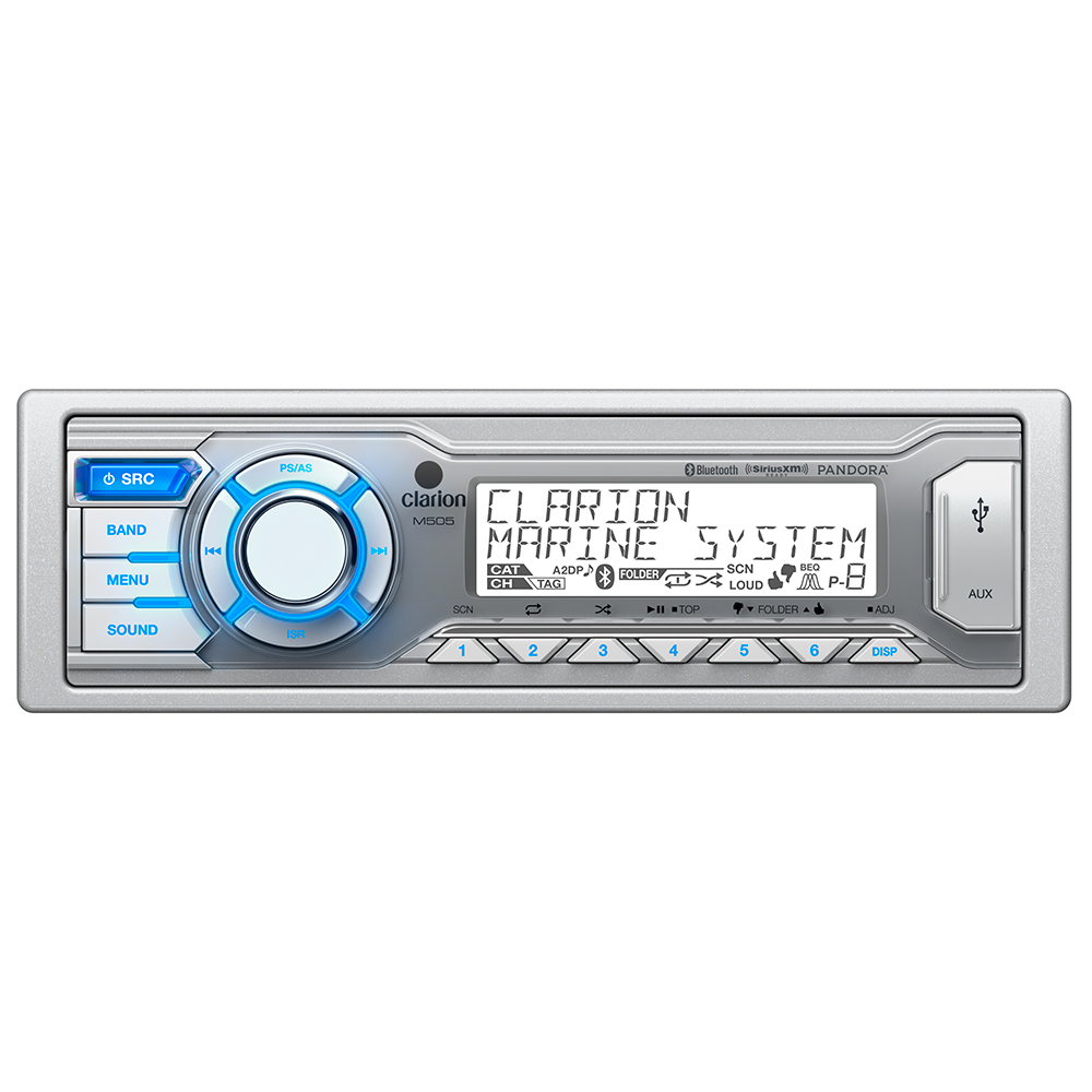 Click here to buy Clarion M505 Marine Digital Media Receiver with Built-In Bluetooth by Clarion.