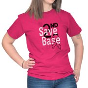 Breast Cancer Awareness Shirt | Save 2nd Base Pray for Cure T-Shirt Tee