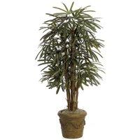 5 ft. Fire Retardant Lady Palm Tree x 7, Green
