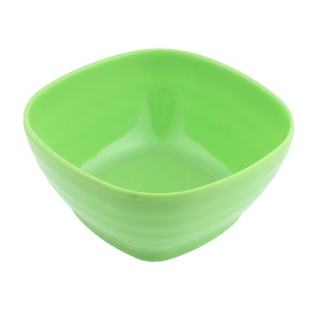 - Plastic Square Design Soup Cereal Fruits Salad Bowl Yellow