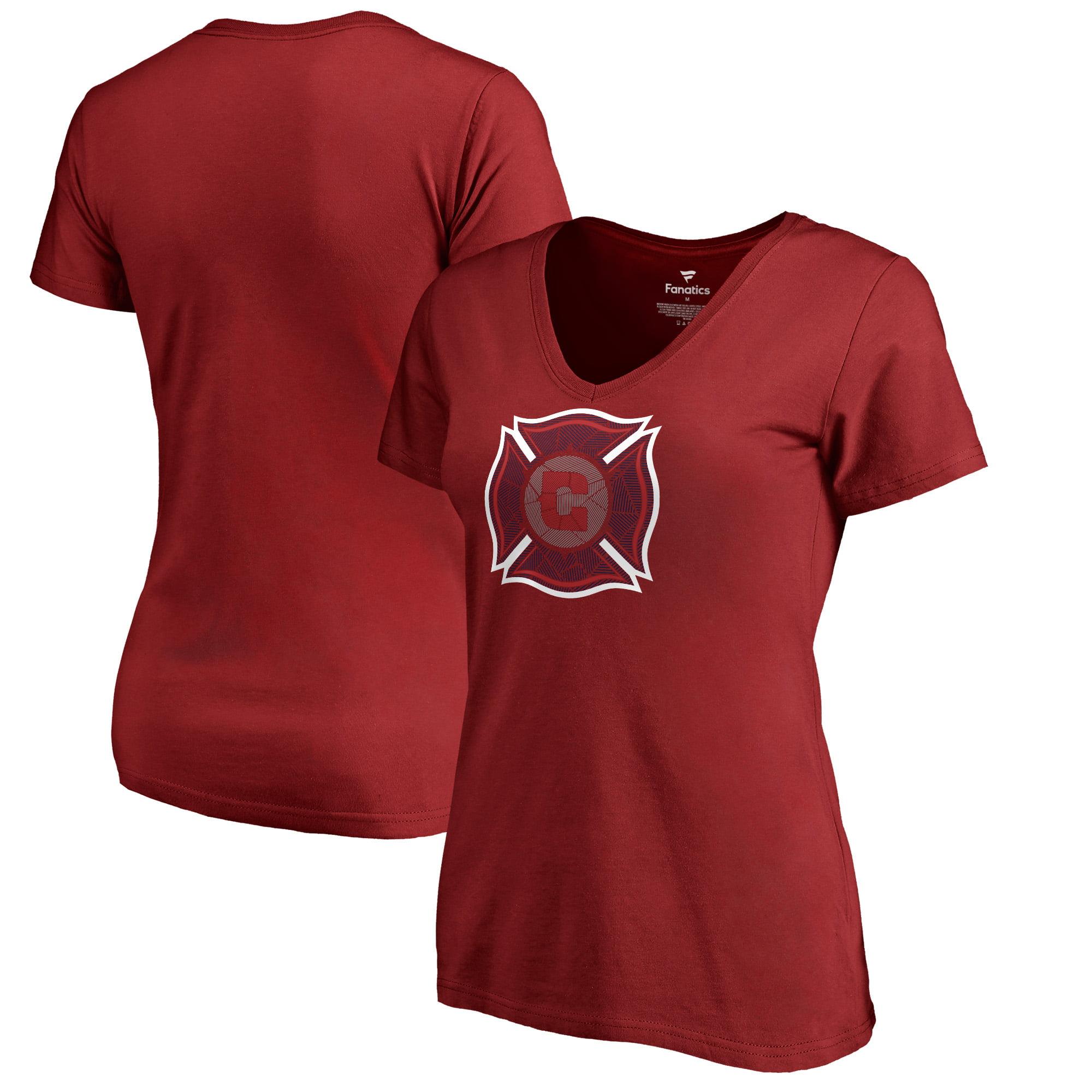 Chicago Fire Fanatics Branded Women's League Trend V-Neck T-Shirt - Red