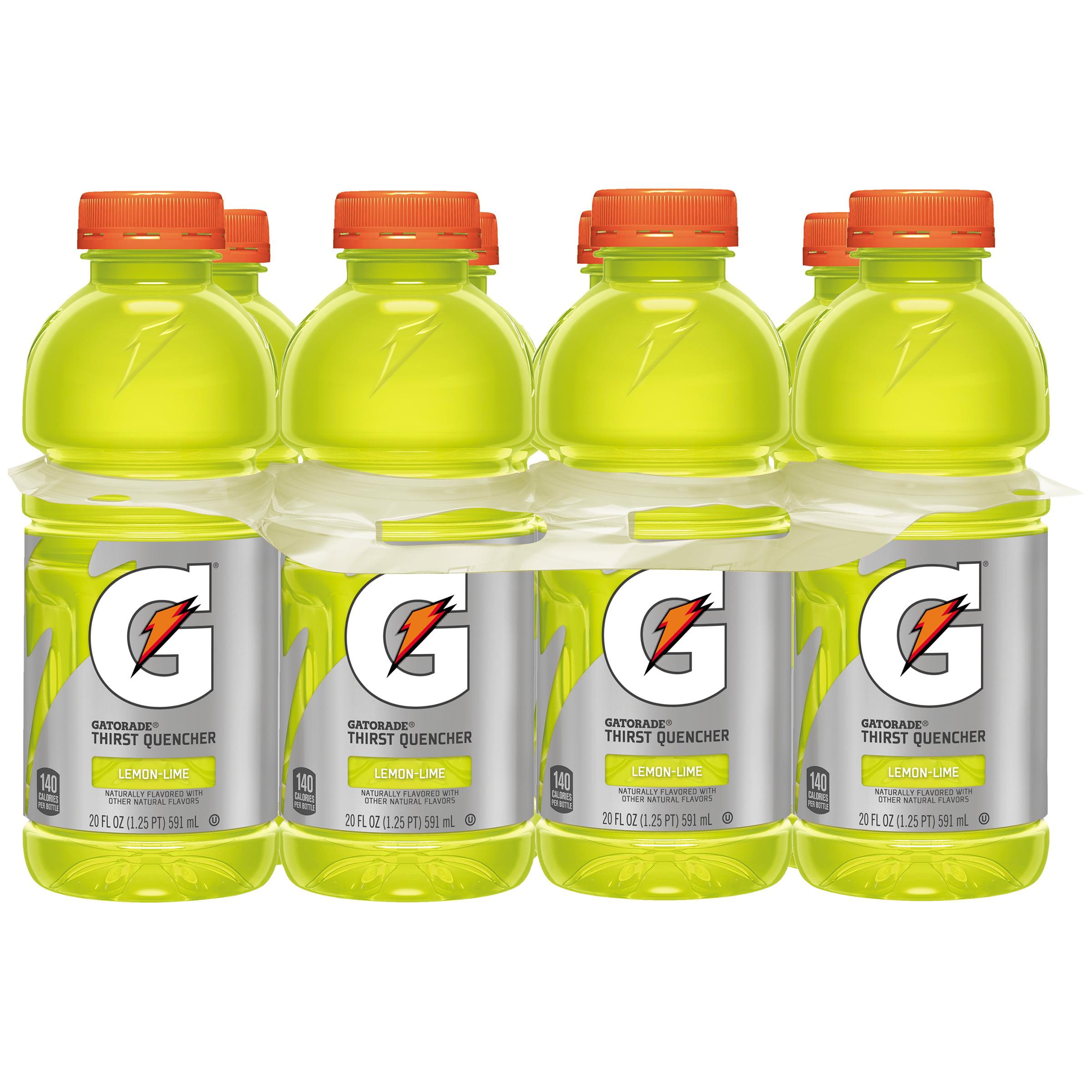 Gatorade Thirst Quencher Sports Drink, Lemon-Lime, 20 Fl Oz, 8 Count