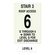 INTERSIGN NFPA-PVC1812(3GA6) NFPASgn,StairId3,FlrLvl6,FlrsSrvd1 to 6 G0264455