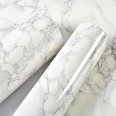 0.5m Marble Pattern Water-resistant Moistureproof Removable Self Adhesive Wallpaper Peel & Stick PVC Wall Stickers for Living Room Bathroom Kitchen Countertop 1# Adhesive Peel Off Borders