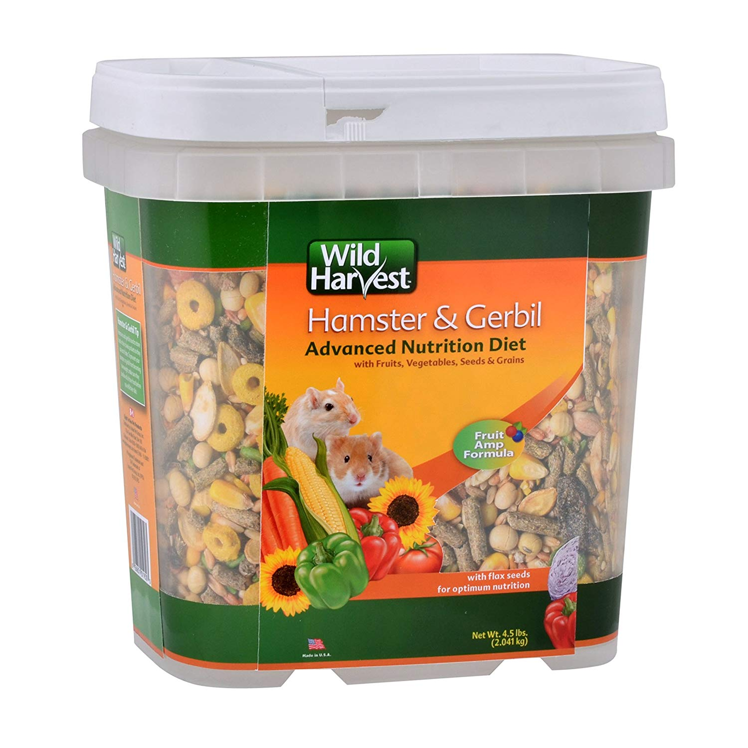 Wh-83543 Advanced Nutrition Diet For Hamsters Or Gerbils, 4.5-Pound, Advanced Nutrition Diets In Flip Top Containers By Wild Harvest