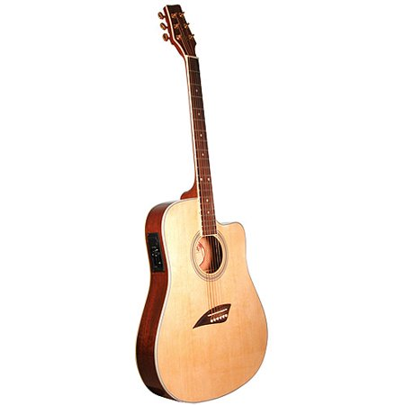 kona thin body acoustic electric guitar spruce with high gloss finish. Black Bedroom Furniture Sets. Home Design Ideas