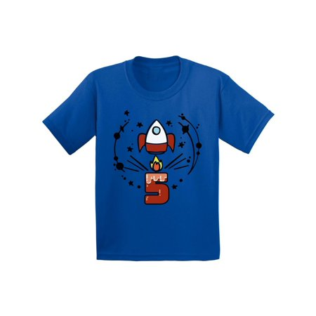 Awkward Styles Birthday Gift for 5 Year Old Kids Toddler Rocket Space Shirts 5th Birthday Party Space Themed Space Shirt Rocket Shirt Little Spacehip Birthday Boy Birthday