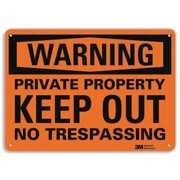 LYLE U6-1202-RA_14X10 Admittance Sign,Keep Out,10 in. H,Text
