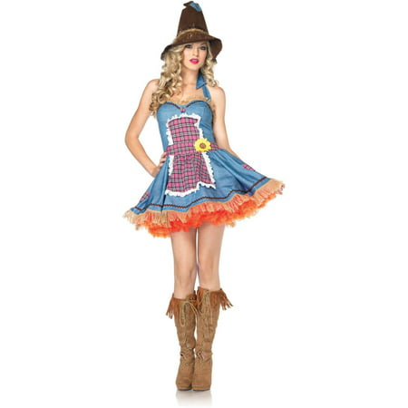Leg Avenue Sunflower Scarecrow Adult Halloween Costume - Scarecrow Halloween Costume Pattern