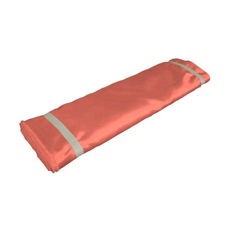 1204 Satin (LA Linen BridalBolt-5Yrd-CoralB55 5 Yards Bridal Satin Flat Fold, Coral)