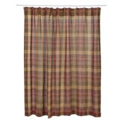 VHC Kendrick Burlap Plaid Shower Curtain