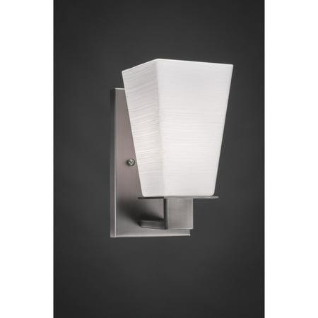 - Apollo Toltec  Graphite Steel/Glass 1-light Wall Sconce