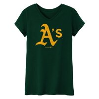 MLB OAKLAND A'S TEE Short Sleeve Girls 50% Cotton 50% Polyester Team Color 7 - 16