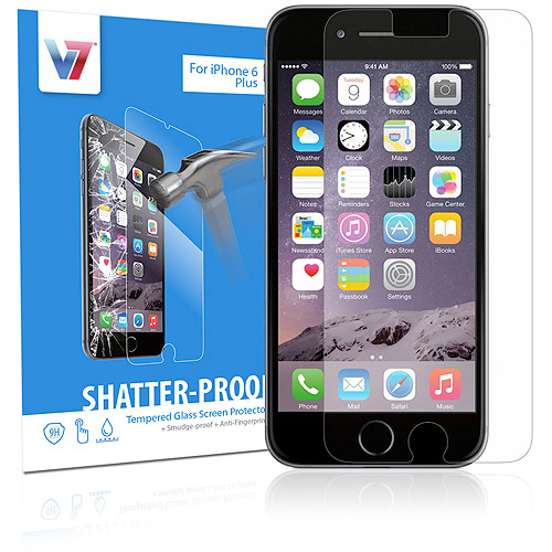V7 Apple iPhone 6 Plus Shatter-Proof Tempered Glass Screen Protector